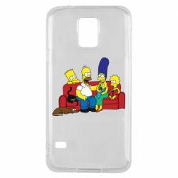 Чехол для Samsung S5 Simpsons At Home