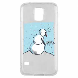 Чохол для Samsung S5Snowman. It's Cold!