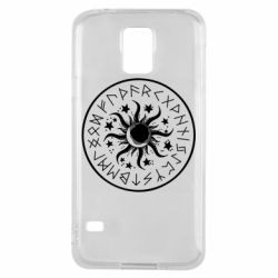 Чохол для Samsung S5 Sun in runes