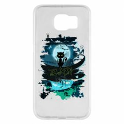 Чехол для Samsung S6 Black cat art