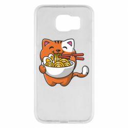 Чохол для Samsung S6 Cat and Ramen