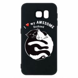 Чехол для Samsung S6 Cats and love