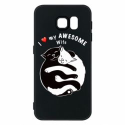 Чехол для Samsung S6 Cats with a smile
