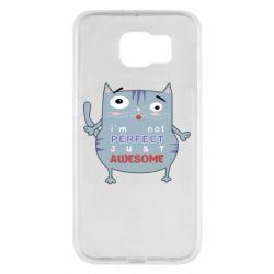 Чехол для Samsung S6 Cute cat and text