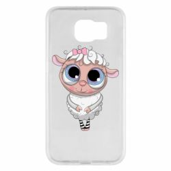 Чехол для Samsung S6 Cute lamb with big eyes