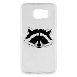 Чохол для Samsung S6 Cute raccoon face
