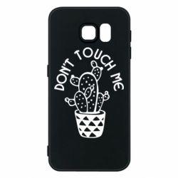 Чехол для Samsung S6 Don't touch me cactus