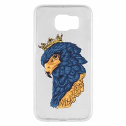 Чехол для Samsung S6 Eagle with a crown on its head