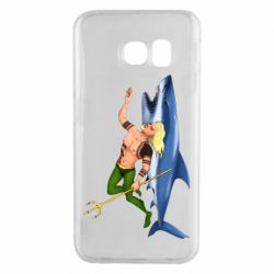 Чехол для Samsung S6 EDGE Aquaman with a shark