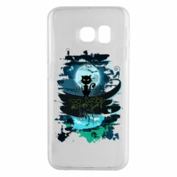Чехол для Samsung S6 EDGE Black cat art