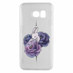 Чехол для Samsung S6 EDGE Bunny in flowers