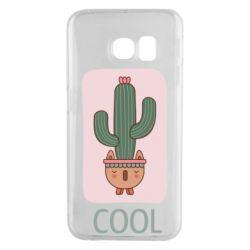 Чехол для Samsung S6 EDGE Cactus art