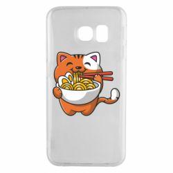 Чохол для Samsung S6 EDGE Cat and Ramen