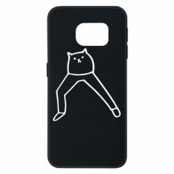 Чохол для Samsung S6 EDGE Cat in pants