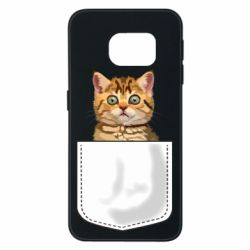 Чехол для Samsung S6 EDGE Cat in your pocket