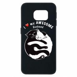 Чехол для Samsung S6 EDGE Cats and love