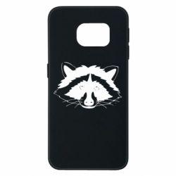 Чохол для Samsung S6 EDGE Cute raccoon face