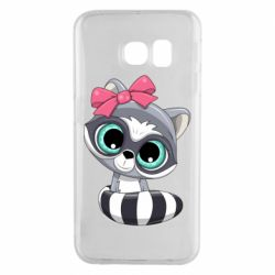 Чехол для Samsung S6 EDGE Cute raccoon