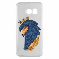 Чехол для Samsung S6 EDGE Eagle with a crown on its head