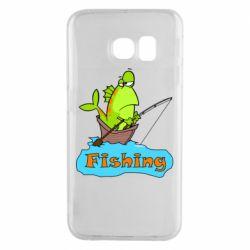 Чехол для Samsung S6 EDGE Fish Fishing