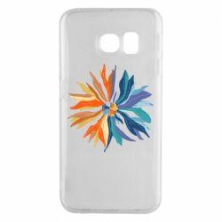 Чохол для Samsung S6 EDGE Flower coat of arms of Ukraine