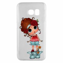 Чехол для Samsung S6 EDGE Girl with big eyes