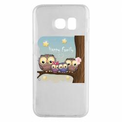 Чехол для Samsung S6 EDGE Happy family