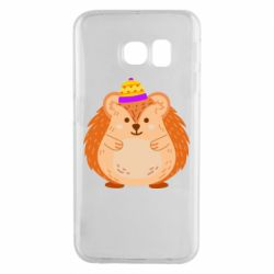 Чохол для Samsung S6 EDGE Little hedgehog in a hat