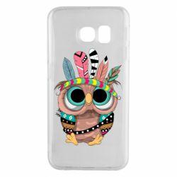 Чохол для Samsung S6 EDGE Little owl with feathers