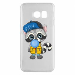 Чехол для Samsung S6 EDGE Little raccoon
