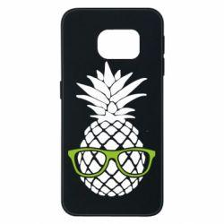 Чехол для Samsung S6 EDGE Pineapple with glasses