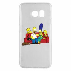 Чехол для Samsung S6 EDGE Simpsons At Home