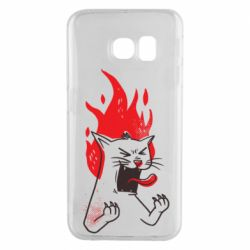 Чохол для Samsung S6 EDGE The cat is mad