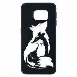 Чехол для Samsung S6 EDGE Wolf And Fox