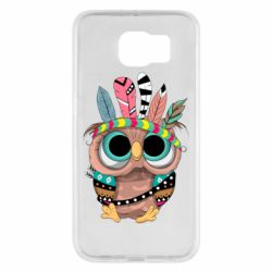 Чохол для Samsung S6 Little owl with feathers