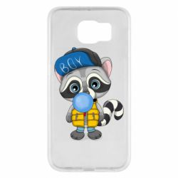 Чехол для Samsung S6 Little raccoon