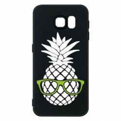 Чехол для Samsung S6 Pineapple with glasses