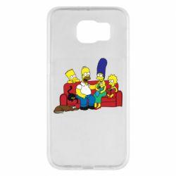 Чехол для Samsung S6 Simpsons At Home