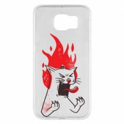 Чохол для Samsung S6 The cat is mad