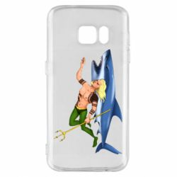 Чехол для Samsung S7 Aquaman with a shark
