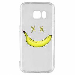 Чехол для Samsung S7 Banana smile