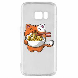 Чохол для Samsung S7 Cat and Ramen