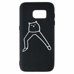 Чохол для Samsung S7 Cat in pants