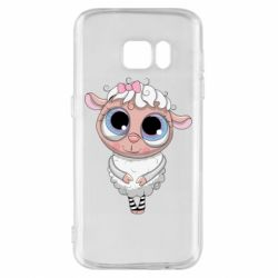 Чехол для Samsung S7 Cute lamb with big eyes