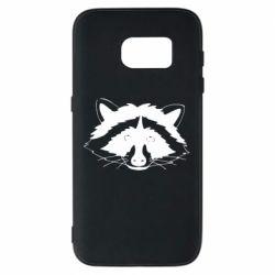 Чохол для Samsung S7 Cute raccoon face