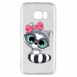 Чехол для Samsung S7 Cute raccoon