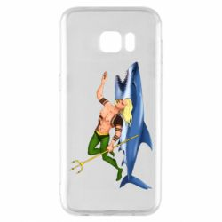 Чехол для Samsung S7 EDGE Aquaman with a shark