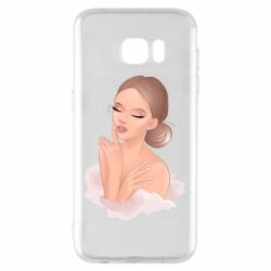 Чехол для Samsung S7 EDGE Beautiful art girl