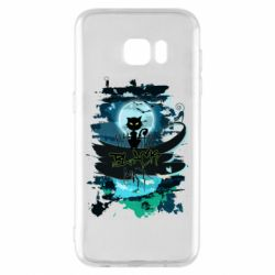 Чехол для Samsung S7 EDGE Black cat art