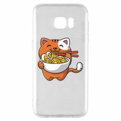 Чохол для Samsung S7 EDGE Cat and Ramen